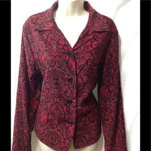 Women's sz Large BRIGGS NEW YORK patterned blazer